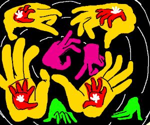 Fractal hands