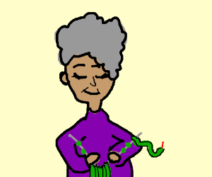 knitting with snakes