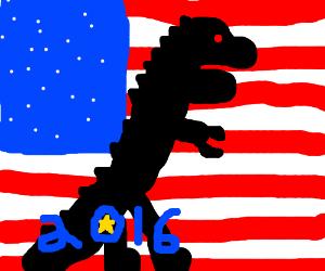 Vote godzilla for president 2016