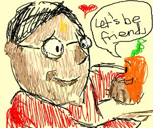 Potter befriends a carrot