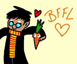 Harry potter is friends with a carrot