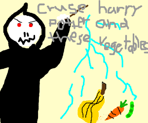 Magician murdering vegetables