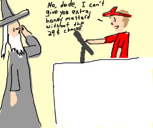 Gandalf annoyed at hired help