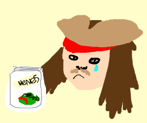 captn Jack Sparrows sad his Meme jars empty