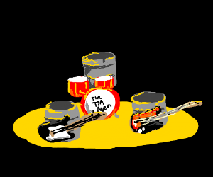 bunch of tin cans start a band
