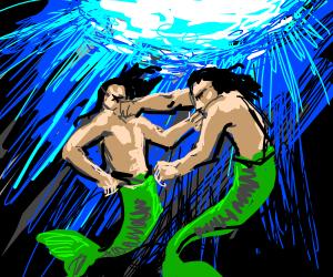 epic fight between mer-people