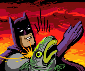 Batman slaps a fish!