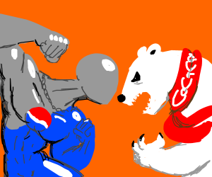 Pepsi and Coke personified and feuding