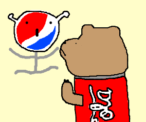 Pepsi alien VS Coke bear