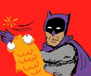 Batman smacks a fish
