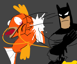 batman slaps a majikarp
