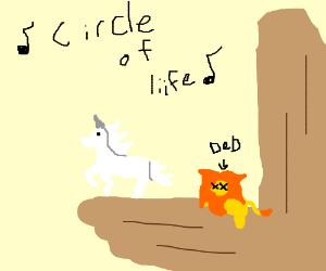Unicorn killed Simba and takes over Pride Rock