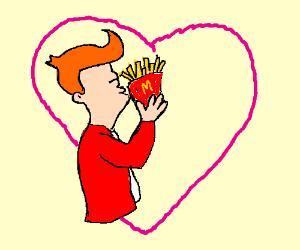 Potato & Fry kissing