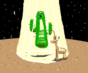 Cactus and his pet reindeer getting abducted!