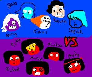 "Team ""Human"" vs Team Ruby (Steven Universe)"