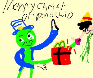 Jiminy Christmas.Jiminy Christmas Drawception