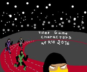 Video game characters at Rio Olympics PIO