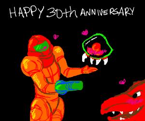 happy 30th anniversary metroid drawception