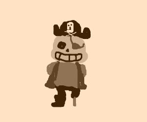 Sans the pirate skeleton