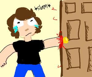 hand slammed in door  sc 1 st  Drawception & hand slammed in door - drawing by glassofmilk