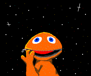 rainbow space puppet