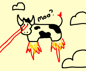 Image result for laser beam eye cow