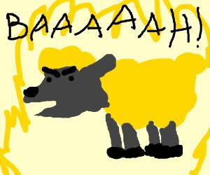 super saiyan sheep