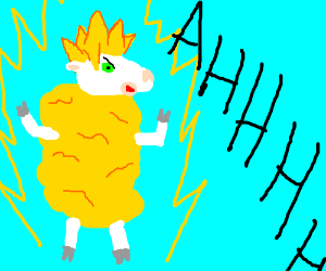 That sheep's power level is over 9000!
