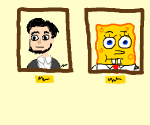 Abraham Lincoln & SpongeBob formal portrait