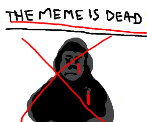 RIP harambe the meme is dead and so is he