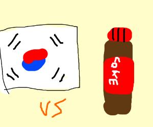South Korea VS coke