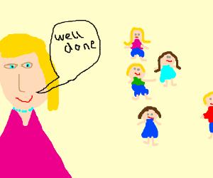praising poorly drawn children