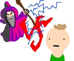 Wizard vs normal guy.