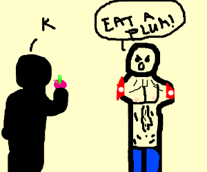 """EAT A PLUM!"" yelled the armless man"