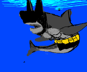 Batman Got Fused With a Shark