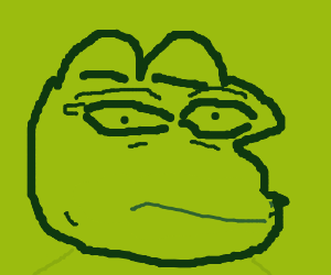 Pepe is disgusted