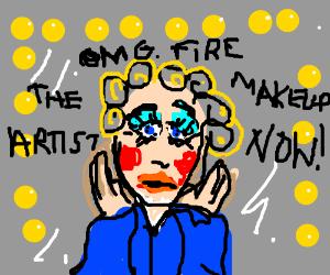 Questionable makeup artist skills