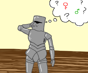 Knight confused about gender