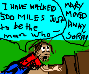 I walked 500 miles, but my wife still left me