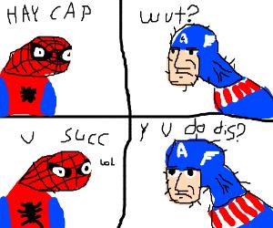 Spoderman, Disses Avengers.