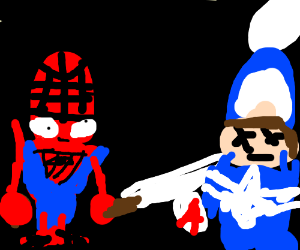 Spiderman derpily kills Captain America