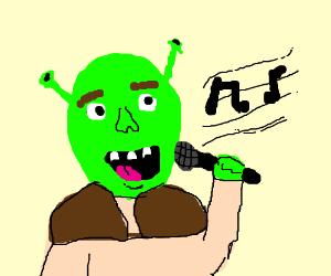shrek singing and being killed