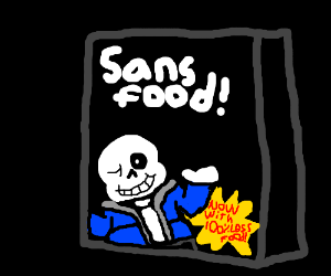 New, SansFood! 100 percent Less food!