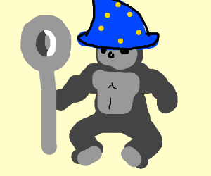 harambe the wizard wields a giant spoon