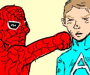 Spider Man beats Captain America