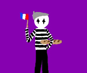 stereotypical French mime