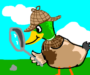 Duck detective investigating