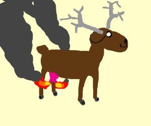 Moose with fire udders?