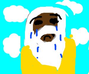 Black god is very sad