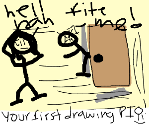Your first Drawception drawing PIO